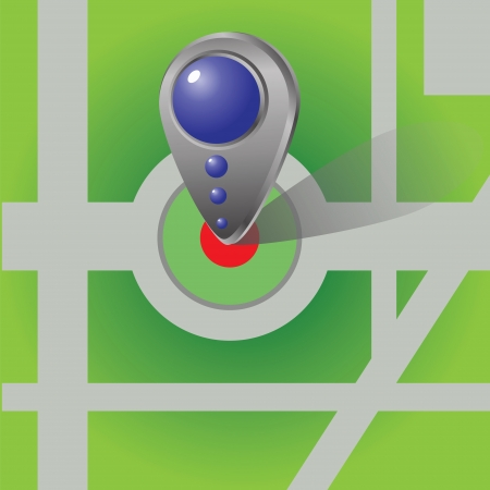 colorful illustration with  Icon of map marker for your design Stock Illustration - 18868365