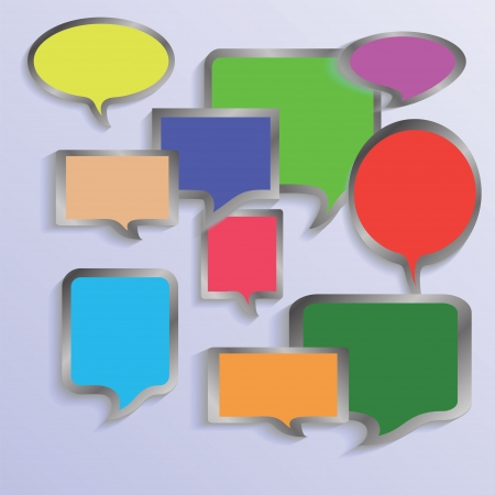 colorful illustration with  speech bubbles  for your design Stock Illustration - 18942176