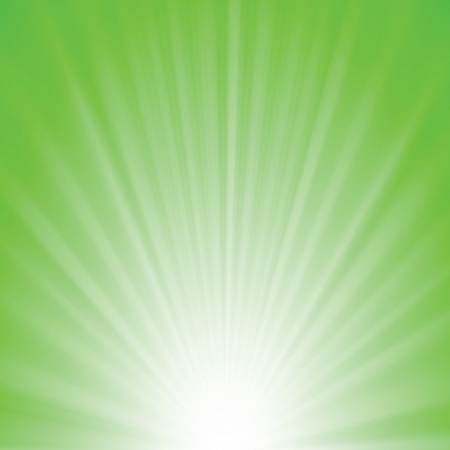 colorful illustration with greenrays background for your design