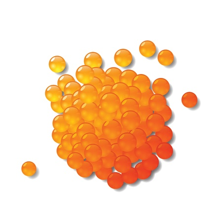 caviar: illustration color�e avec caviar rouge pour votre conception