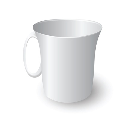 illustration with  white mug for your design Vector