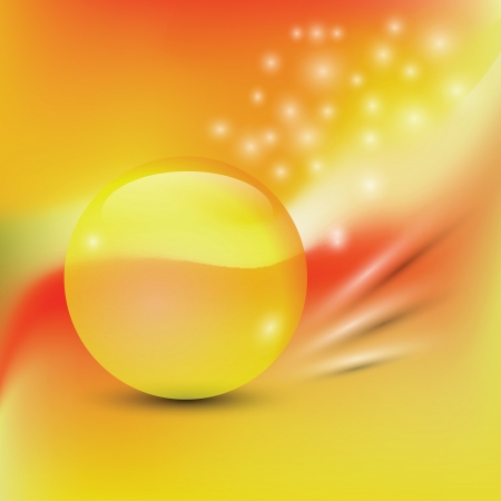 colorful background  with  yellow sphere  for your design Vector