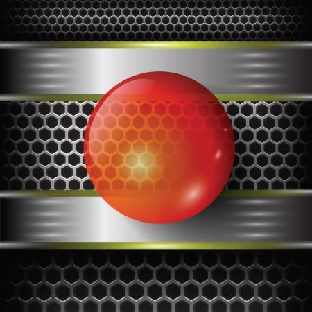 red sphere: sfondo colorato con sfera rossa per il vostro disegno