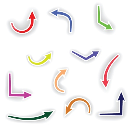 colorful illustration with arrows  for your design