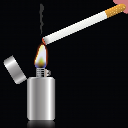smoulder: colorful illustration with cigarette  for your design