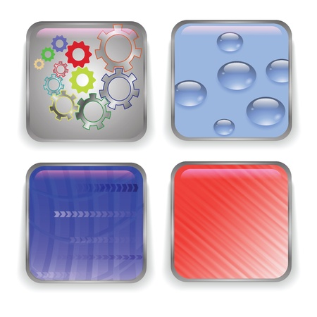 set of buttons for your design Vector