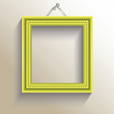 set square: colorful illustration with  photo frame for your design Illustration