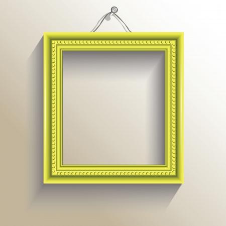 objetos cuadrados: colorida ilustración con marco de fotos para su diseño