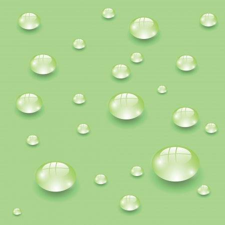 colorful illustration with water drops for your design Vector