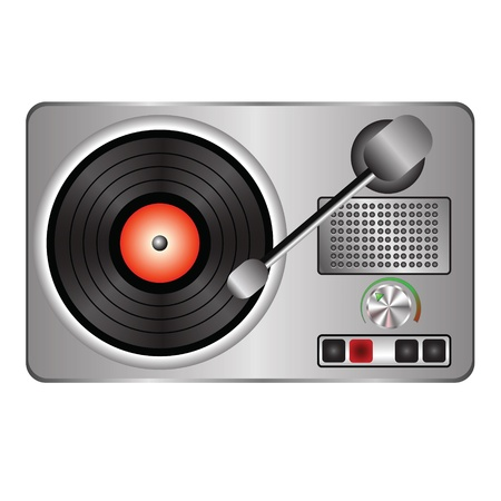colorful illustration with  record player for your design Vector