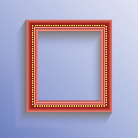 red frame on blue background for your design Vector
