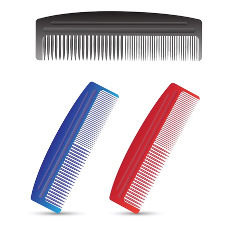 colorful illustration with combs for your design Stock Vector - 20442438
