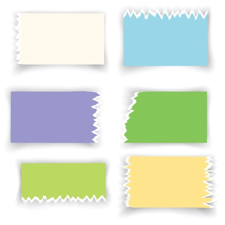 colorful illustration with ragged sheets of paper for your design