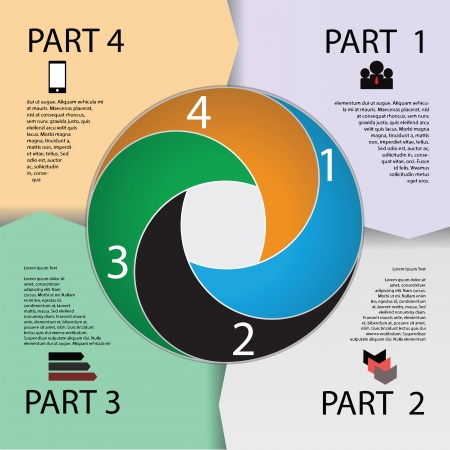 paper business circle for for your presentation Vector