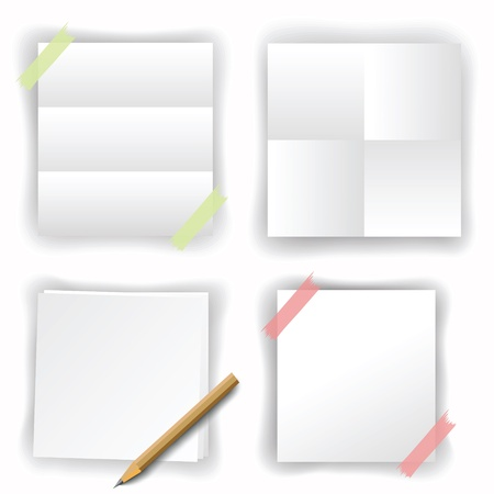 set of white papers for your design Vector