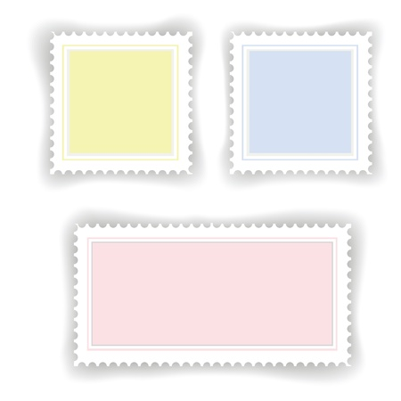 colorful illustration with postage  stamps for your design Stock Vector - 21379062