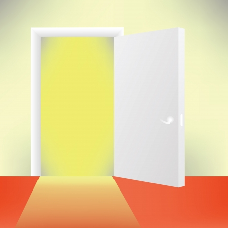 colorful illustration with door for your design Vector