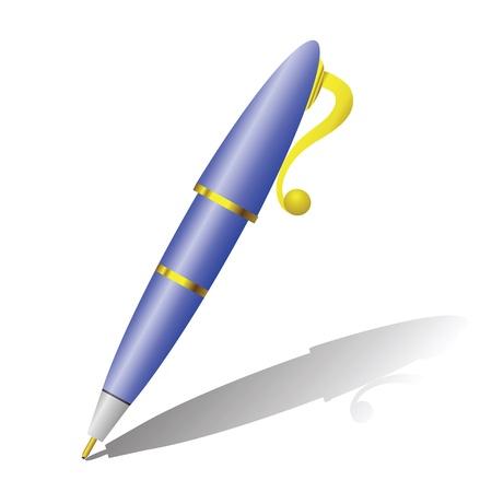kleurrijke illustratie met pen voor uw ontwerp