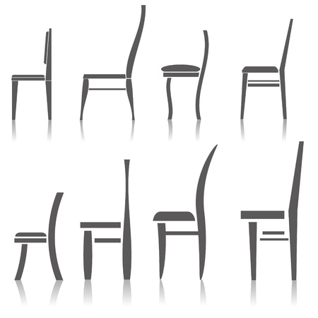 set of silhouette chairs     Stock Vector - 22678023
