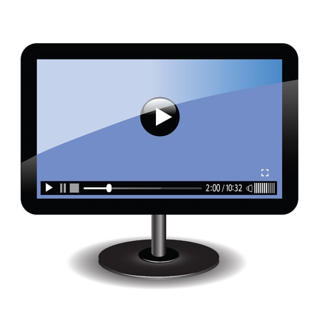 colorful illustration with video player  for your design Vector