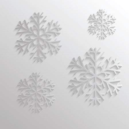 bunte Illustration mit abstrakten Schneefall für Ihr Design
