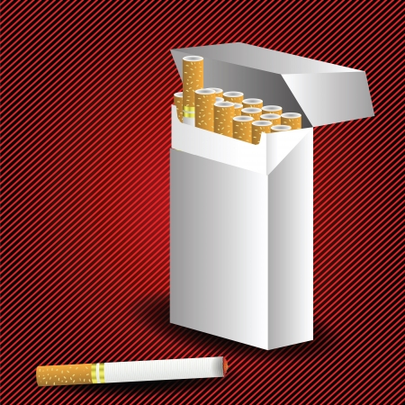 cigarette pack: colorful illustration with cigarette pack for your design