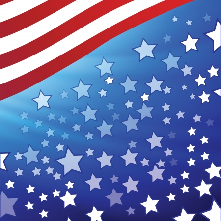 colorful illustration with  american flag for your design Vector