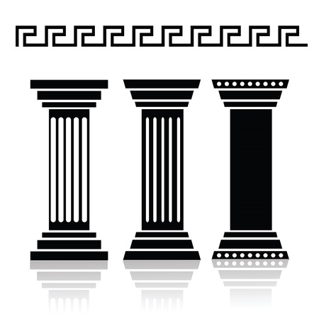 illustration with  ancient columns for your design