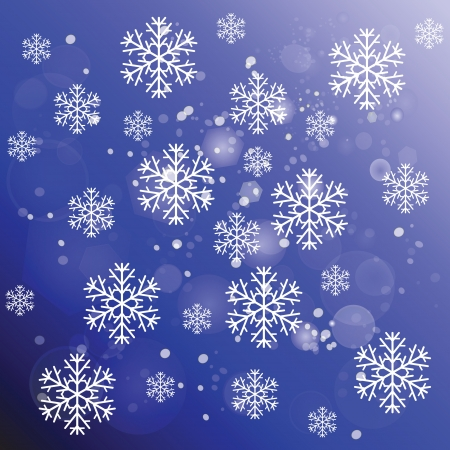 colorful illustration with abstract snowflakes for your design Vector