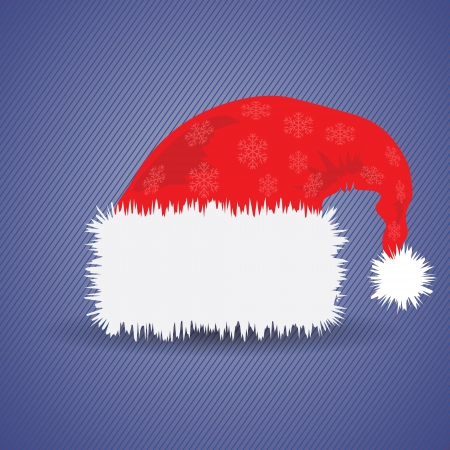 colorful illustration with Santa Claus red hat for your design Stock Vector - 24198388