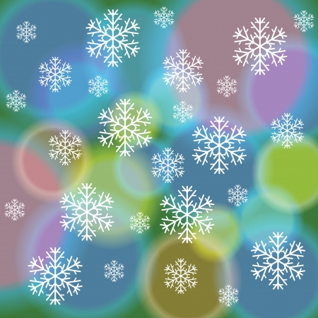 colorful illustration with  abstract snow background for your design Vector