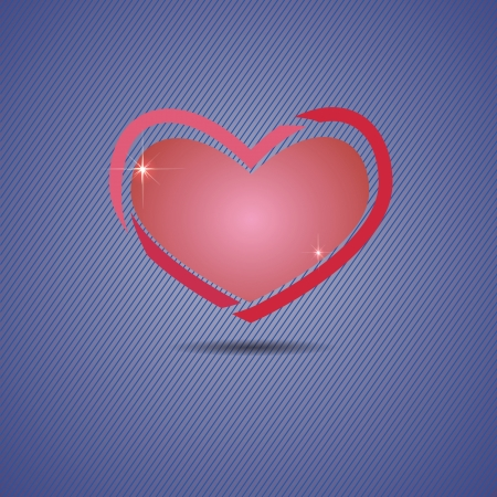 colorful illustration with pink heart for your design
