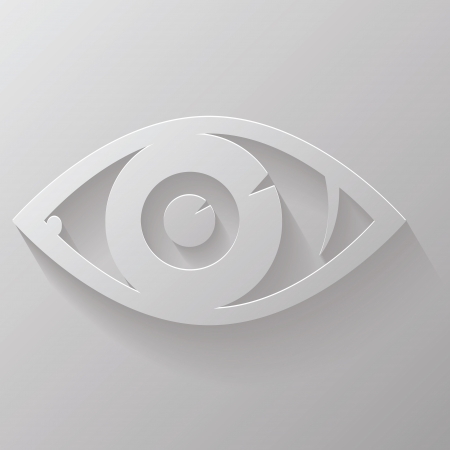 illustration with silhouette of eye for your design Vector