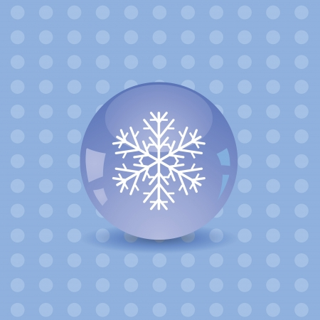 colorful illustration with snowflake icon for your design Vector