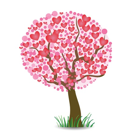 colorful illustration with  heart tree for your design Stock Vector - 24958903