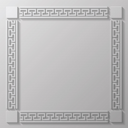 ancient civilization: colorful illustration with gray frame  for your design