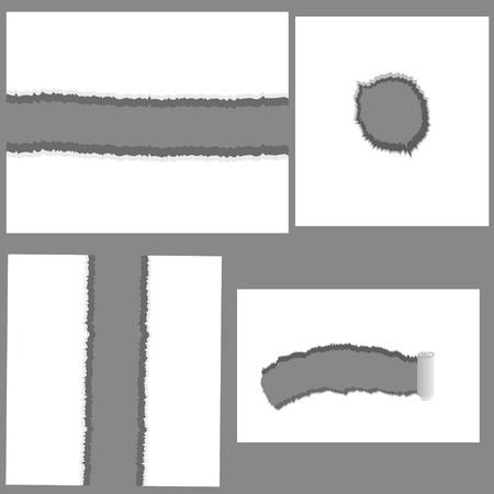 illustration with set of holes for your design Illustration