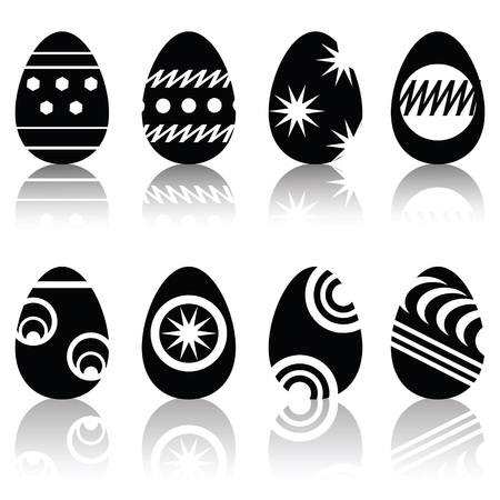 illustration with easter eggs  for your design Vector