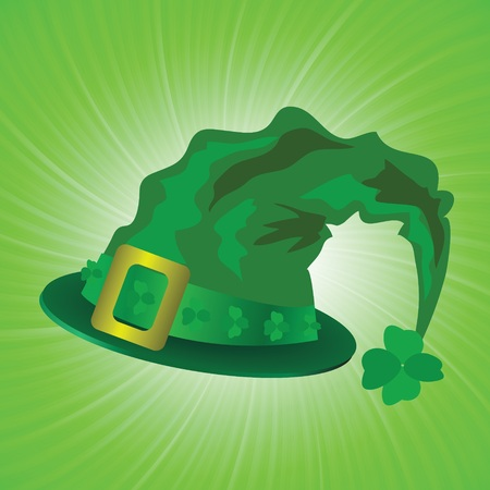 colorful illustration with green hat in saint Patrick Day  for your design Vector