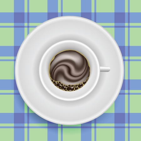 colorful illustration cup of coffee  for your design Vector