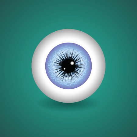 colorful illustration with  blue eye for your design Vector