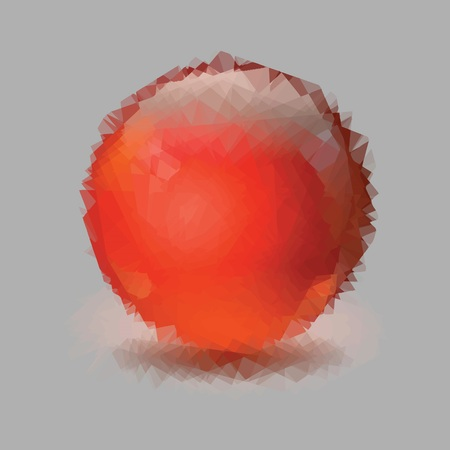 colorful illustration with red sphere for your design
