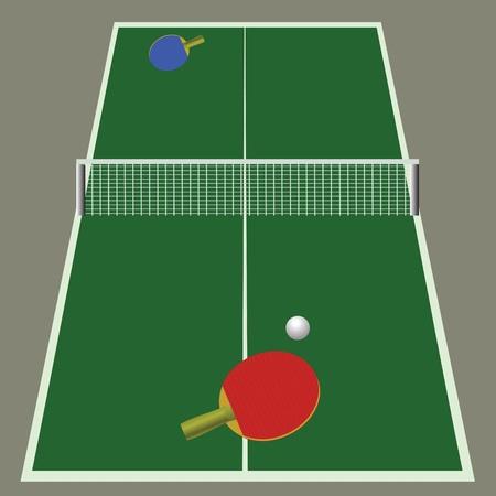 illustrazione colorata con ping pong gioco per il vostro disegno