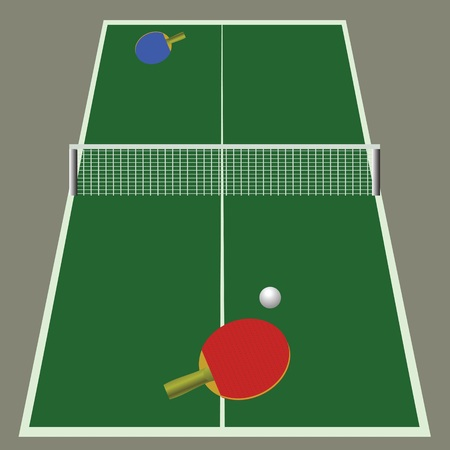 colorful illustration with ping pong game for your design