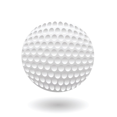 colorful illustration with golf ball on a white background