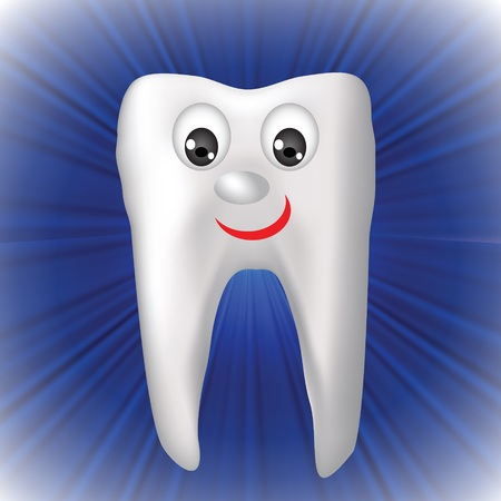 colorful illustration with cheerful tooth