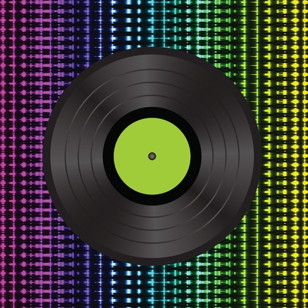 colorful illustration with vinyl background  Vector