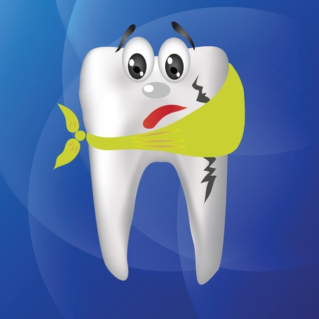 colorful illustration with tooth hurts