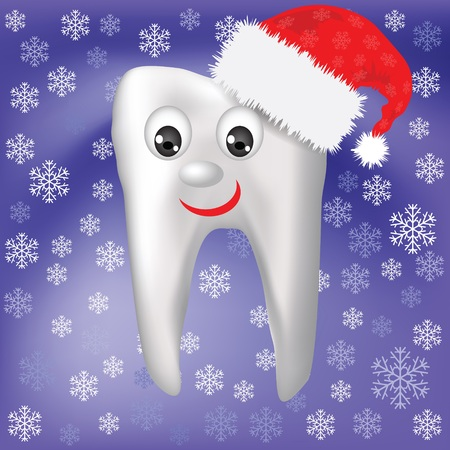 colorful illustration with  winter tooth  Vector