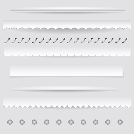 colorful illustration with  set of dividers on a gray background for your design Vector